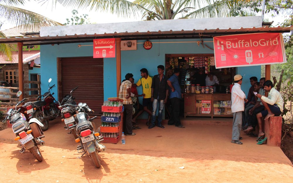 The Integra/i25 Rural agent shop in Baluru, Karnataka.
