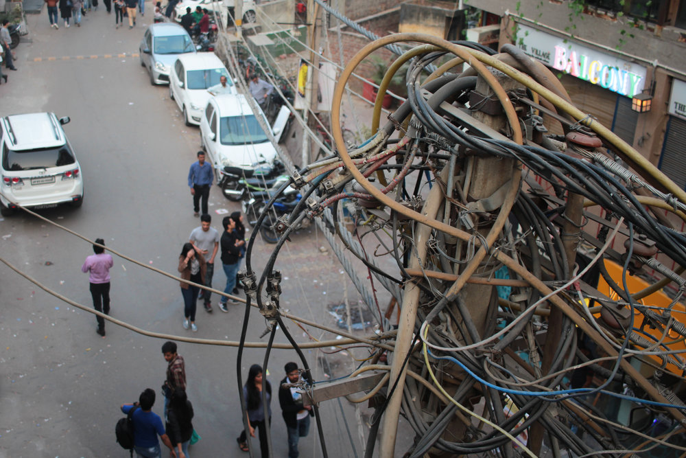 Exposed and disorganised cables are a common sight across urban India