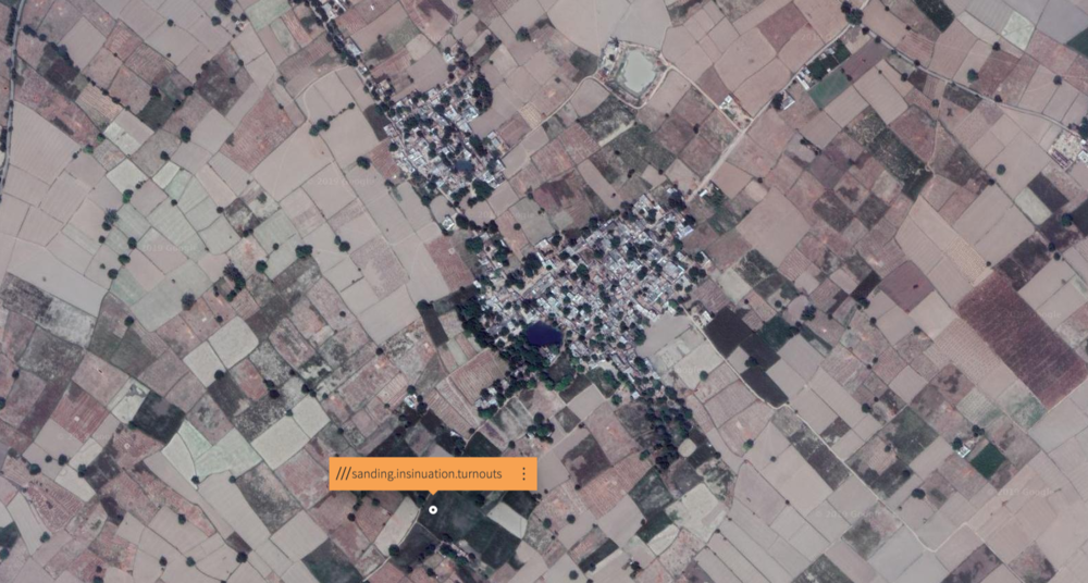 Ramesh's store and the nearby village — Location powered by  What3Words
