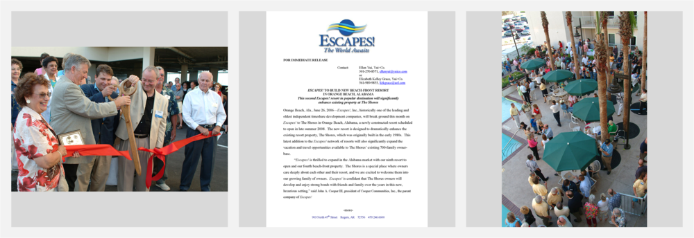Cooper Communities'  Escapes!  Resorts