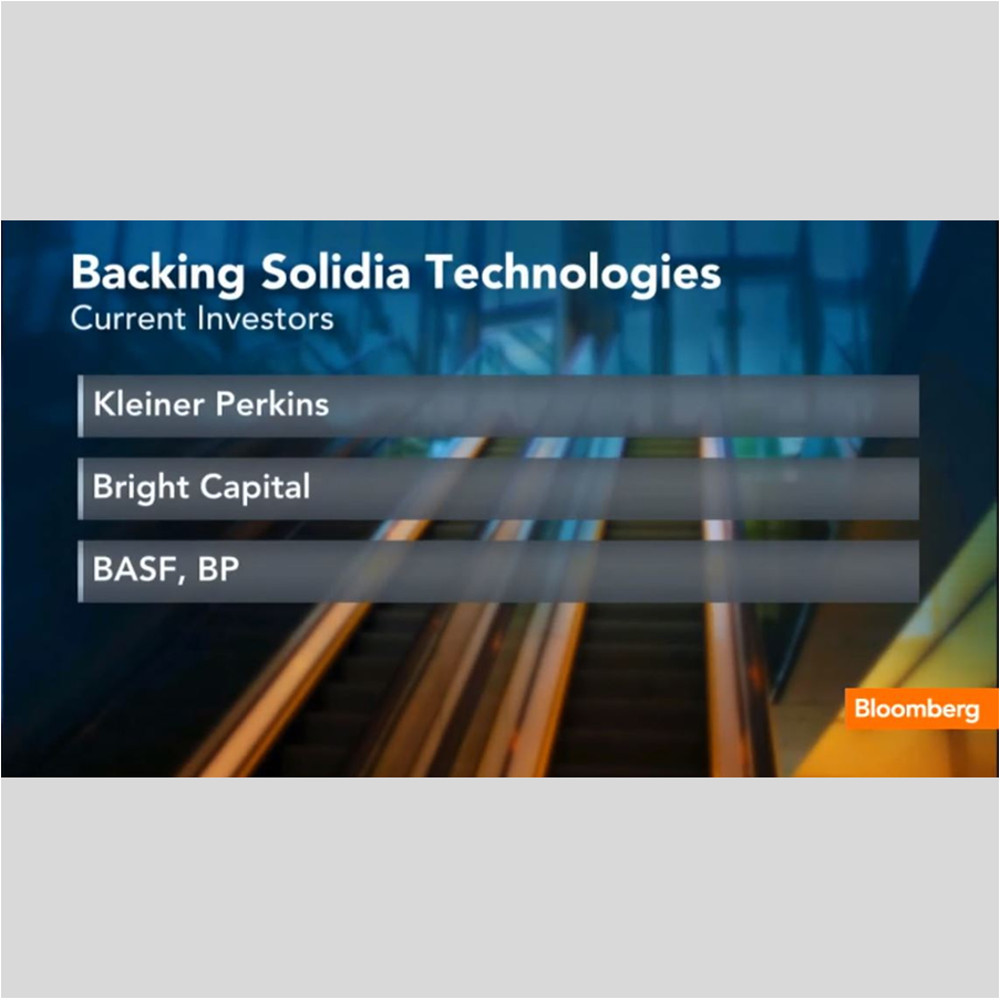 INVESTOR RELATIONS    Solidia Technologies ' investors showcased on Bloomberg TV