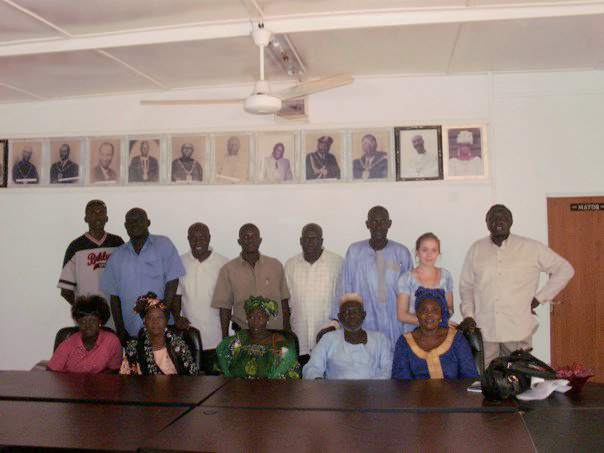 The author and members of the Banjul City Council who helped facilitate her anthrpological research.