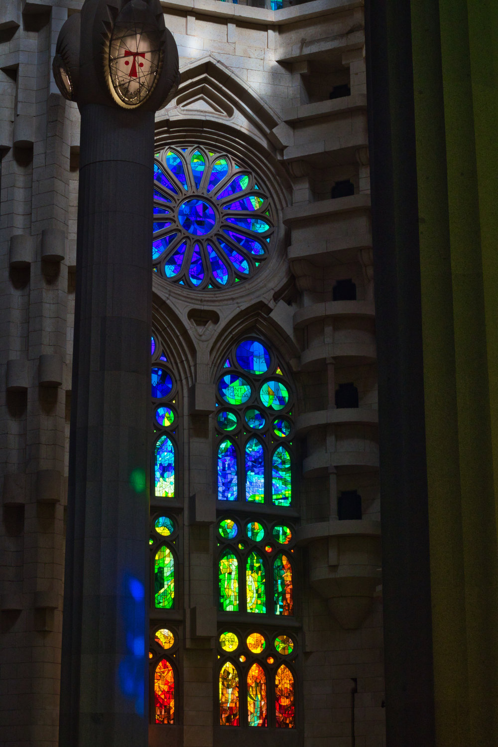 The 45-minute audio guide only scratched the surface of the vast detail and symbolism entombed in within Sagrada Família's walls.   Photo: Courtany Schick