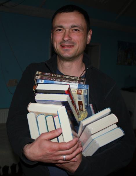 Books for a rehabilitation center library.