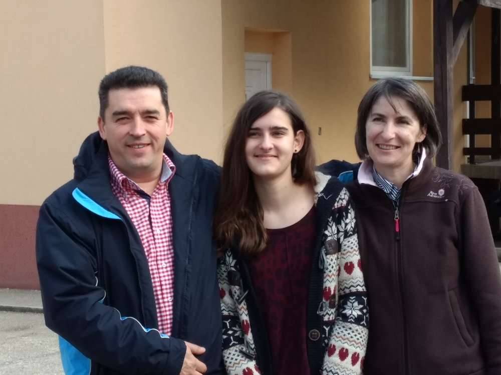 Pastor Imre Szoke, wife Khristina and daughter