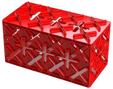 """X8 - Aus PE-HD-Kunststoff gefertigt.20 Jahre haltbar.CE-Kennzeichnung.Maße 45 x 22,5 x 22,5 cm.X 8 ist unser Basiselement. Es kann an allen 6 Flächen mit anderen Baulementen kombiniert werden. Es kann im Verbund verbaut werden und stellt damit sicher, dass Konstruktionen stabil sind. Das X 8-Element kann auf 32 verschiedene Arten mit anderen Elementen kombiniert werden. X Fix kann als """"Zement"""" zwischen den Bauelementen verwendet werden."""