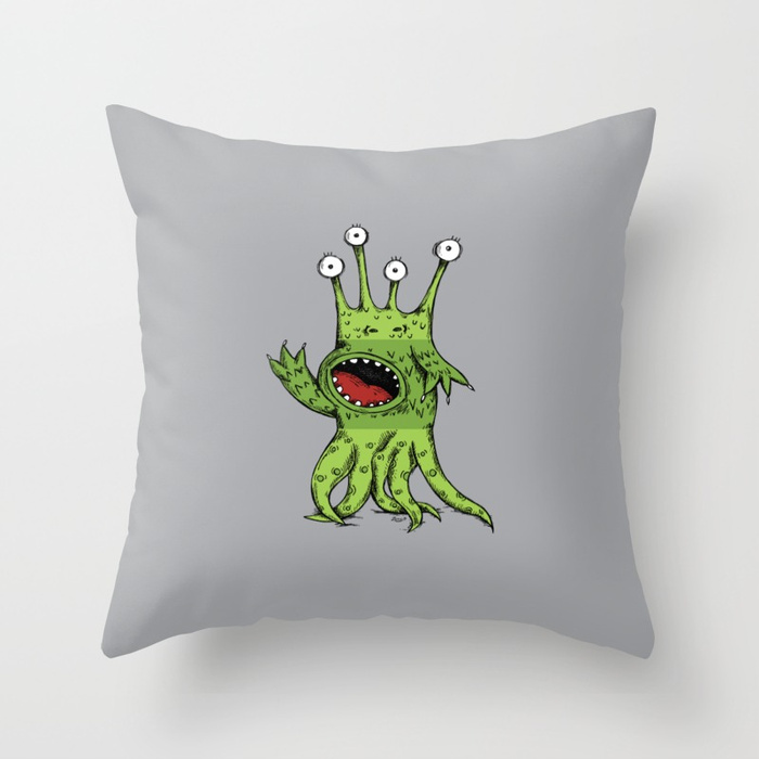 Make-A-Monster_#006 Throw Pillow