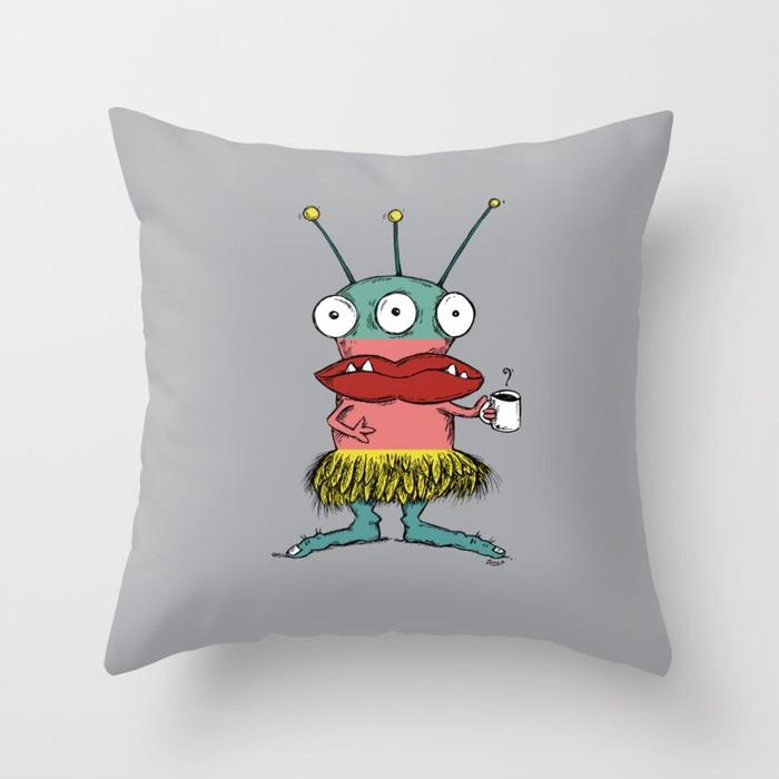 Make-A-Monster_#002 Throw Pillow