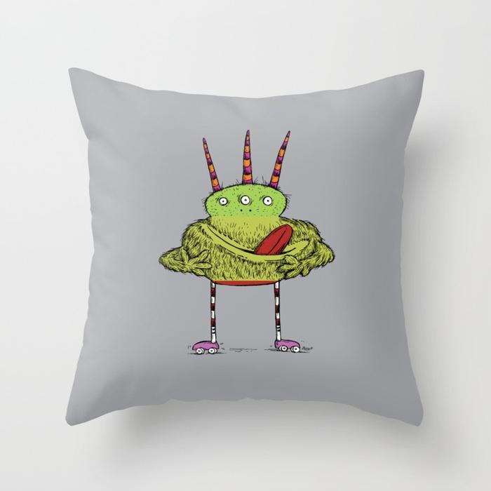 Make-A-Monster_#011 Throw Pillow