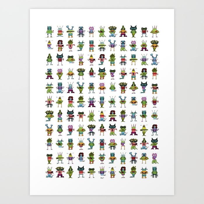 Make A Monster_multiples Art Print