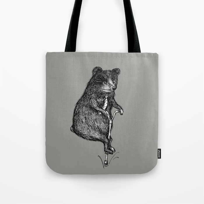 Ride On Bear Tote Bag