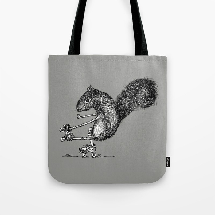 Ride On Squirrel Tote Bag