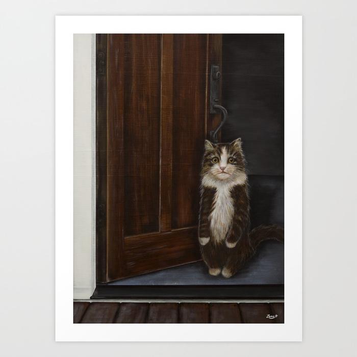 Indoor Cat Art Print