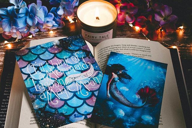 "L💙VE this close up of the Peter Pan Mermaid Lagoon print I made for last month's @myguiltypleasuresbookcrate book crate! #Repost @demeriahh ・・・ 🎧 Leave Right Now - Thomas Rhett 🎧 Happy Friday, lovelies! I am in love with the Art prints that were included in @myguiltypleasuresbookcrate August Mermaid Lagoon crate! LOOK HOW GORGEOUS! I love the colors and illustrations so much! 😍 The Peter Pan print on the left says ""I'll think of a mermaid lagoon underneath a magic moon."" 🌊 The artists who created these stunning prints have been tagged in the photo, go check them out. • There are still September crates available to purchase! This months theme is CYBER DECEPTION. You can use my code MGPDEMI10 to save 10% off your crate! 😃 And starting this month ALL crates from here on out will now include a bookish themed candle based off the genre you've chosen! 😱 How freaking awesome is that?! @myguiltypleasuresbookcrate has already announced this months candle supplier and it is... 🥁drum roll 🥁 @geekygirlscents!! 🎉 I can't wait to see what awesome candles, Chelsea, comes up with for Cyber Deception! 😄 • Also, I just wanted to give you guys a heads up that this coming week, I may not be posting as much. My sister is pregnant with her 3rd child, and she's due to have him on Monday!! 😍 Unfortunately, my nephew is breeched, so they're going to try to get him to flip on Monday, but if that does not work, they'll be performing a c-section. So the little dude will be coming into this world sometime next week. ❤️ My family and I are getting all the last minute things prepared and ready to go; my mom is flying in from California in a few days, which I am also super excited about because I'm such a mama's girl and i've missed her so much. 💙 Anyway, so yeah, If I don't post daily next week, that's why. 😊 • 