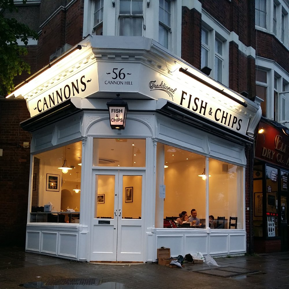 Hand Painted Fascia at Cannons Fish & Chips