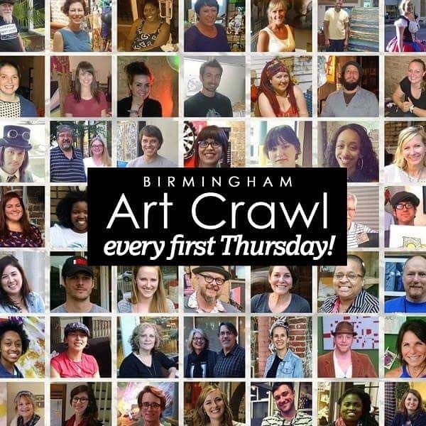 CALL TO ARTISTS!  Wanna get involved with Birmingham Art Crawl? Visit our website (www.birminghamartcrawl.com) and submit your application before Friday, January 25th to be able to participate during our #firstThursday happening in February!