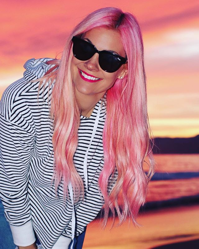 When your #pinkhair matches the #pinksky 💓💓💓