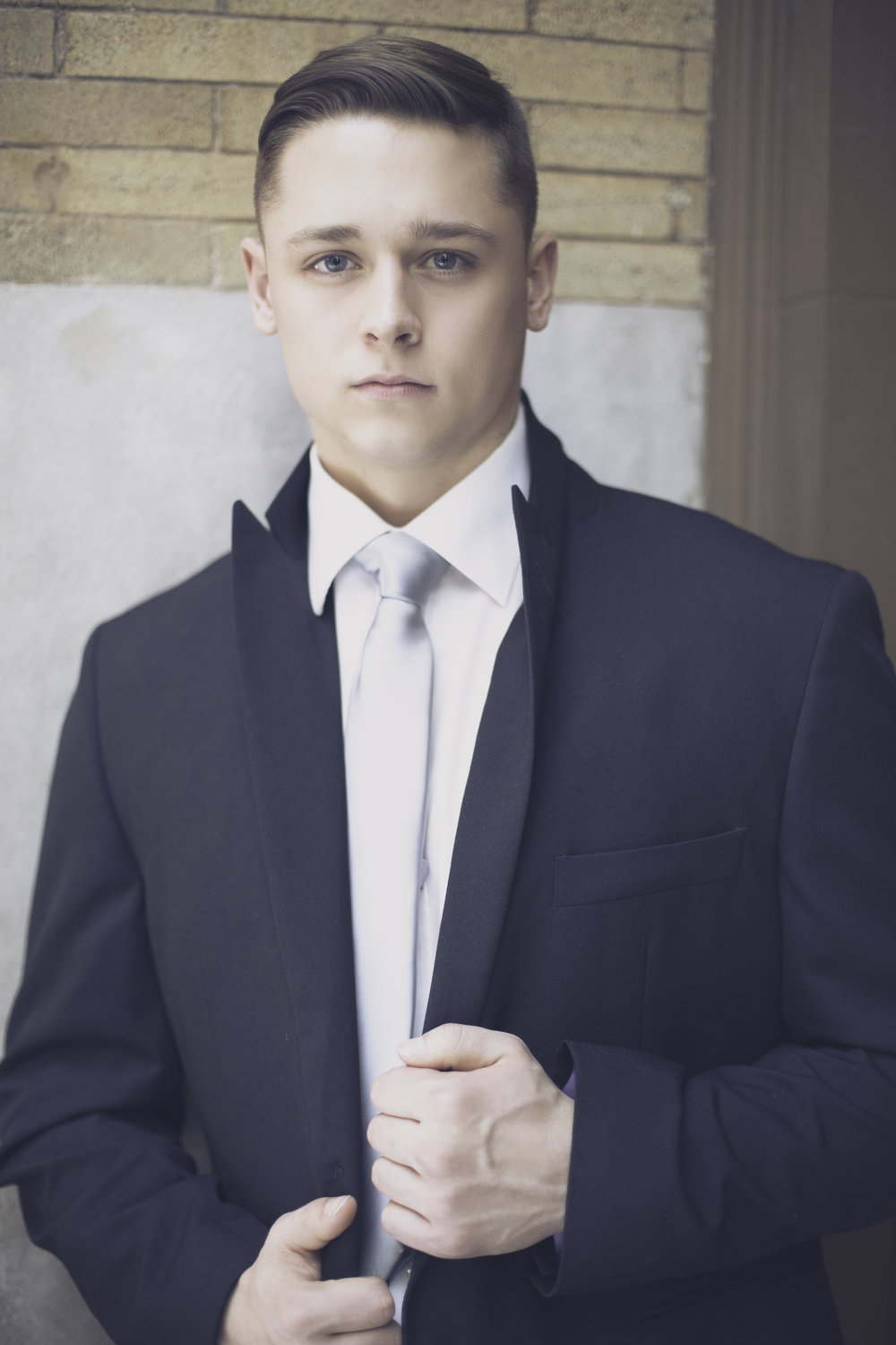 High School Senior Boy with Suit