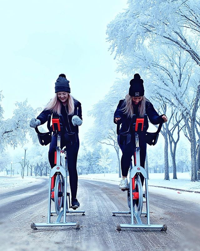 Whether the weather is colder or wetter, even when the bikes are static, we go further together. ⠀⠀⠀⠀⠀⠀⠀⠀⠀ ⠀⠀⠀⠀⠀⠀⠀⠀⠀ 👊🏽Here's to the people who light up our lives and enhance our rides. ❄️