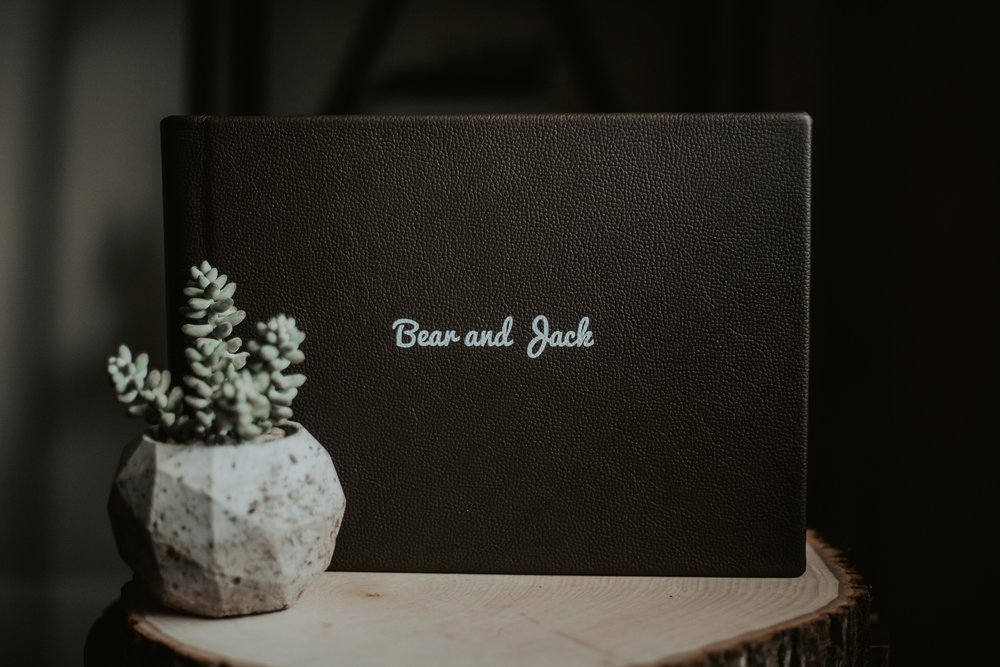 Beautiful Genuine Leather Photo Album in Espresso
