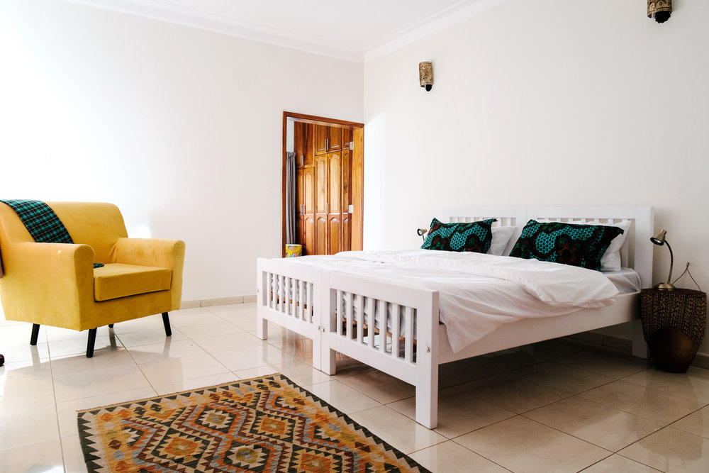 Deluxe Ensuite Double Room in the Entebbe Guest House