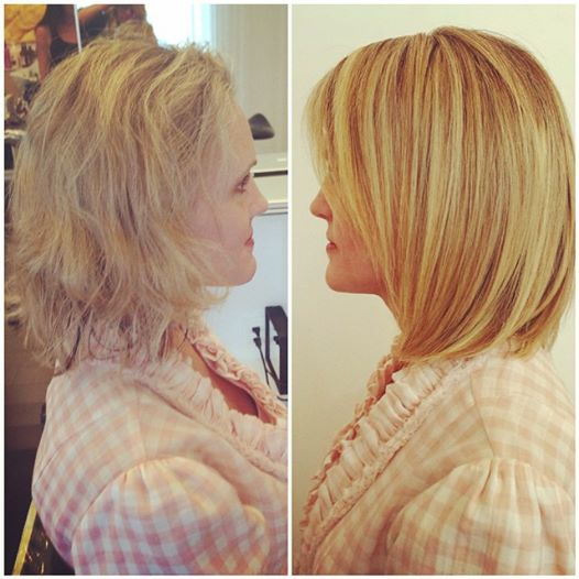 Citrine Stylist Heather's Kerasilk Before and After