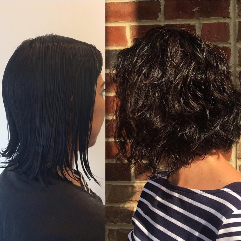 Get fullness, body, and a beautiful wave texture with the American Wave perm. A favorite service performed by Dana!