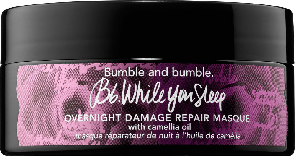 BB While you sleep damage repair masque-  Repair dry, damaged, or over-processed, hair overnight with this lightweight sleeping masque. Not only is this masque very hydrating, it also contains Evening Primrose to repair dry strands and protect from future damage. Just apply to dry hair once or twice a week, leave it in for as long as you'd like or keep it in overnight for intense hydration.