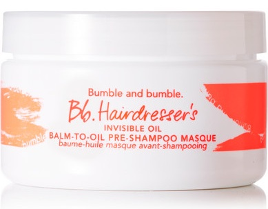 BB Hairdresser's Invisible Oil Pre Shampoo Masque - Perfect for wavy or curly textures, this unique balm liquefies in your hands, making it a breeze to apply. This oil infused formula helps de-frizz, detangle, and keep your curls soft and shiny. Just take a small amount and run through you hair. Leave in for 20 minutes and then follow through with your favorite shampoo and conditioner.