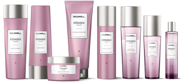 Color - Gentle shampoo and conditioner, color preserving mask luster mask, brilliance perfecter oil, protective blow dry spray