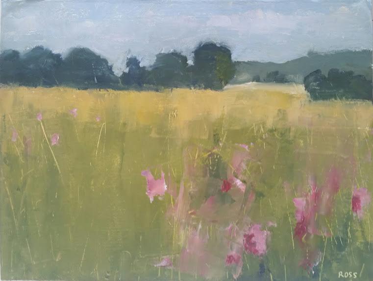 Robert Ross, Wildflowers, Port Oneida, 15x20, oil