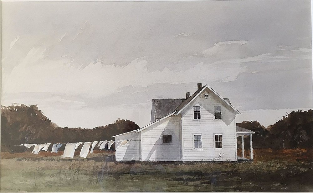 Michael Lowery, Wash Day, 24x15, watercolor