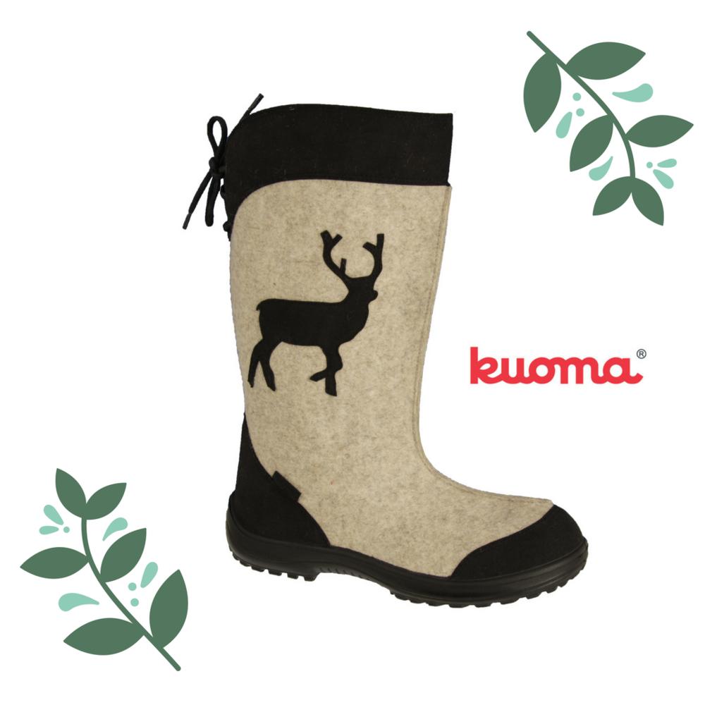 Put your best foot forward this holiday season with the ultra cozy & super cute Kuoma felted wool boots! Made in Finland, these boots are perfect for Olde Fashioned Christmas, walks through a snowy park, or just running errands around town in style! Sizing is limited so come get them before the last pair walks out of here! $179, other colours available: Red, Charcoal.