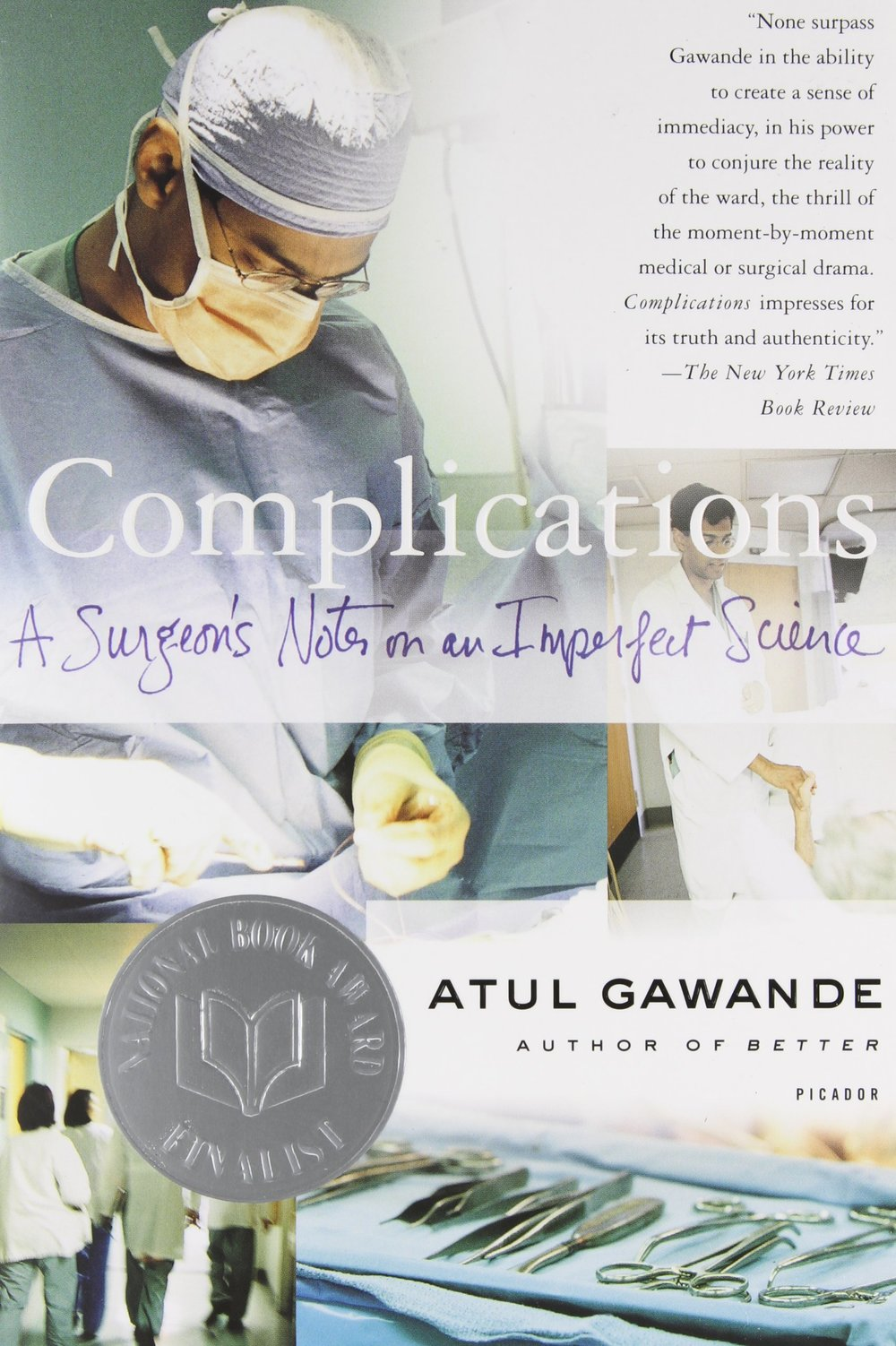 "Gawande, a surgeon and former Rhodes scholar, illuminates ""the moments in which medicine actually happens,"" and describes his profession as an ""enterprise of constantly changing knowledge, uncertain information, fallible individuals, and at the same time lives on the line."" He includes accounts of medical traumas and analysis of doctor anxiety and burnout with humor, sensitivity and critical intelligence."