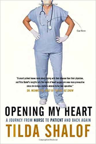 "This is the true story of a 25-year ICU nurse who experiences the rigors of her own open-heart surgery. Shalof says that she ""learned more in her week-long stay as a patient than in all her years caring for the critically ill, especially about trust and working in partnership with her caregivers."""