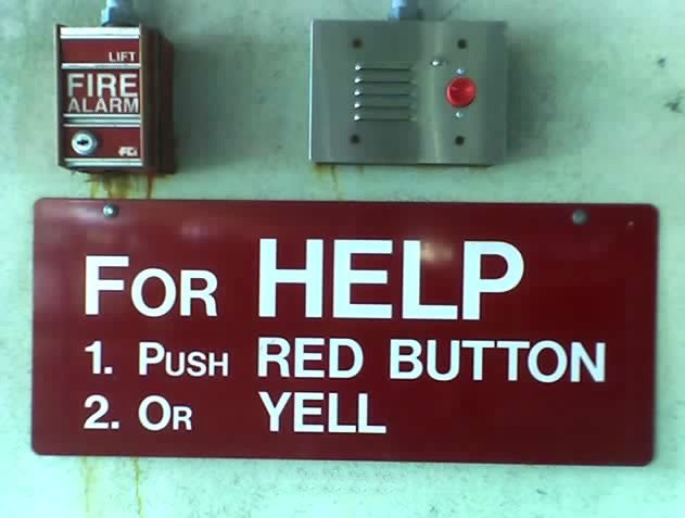 yell or push button help