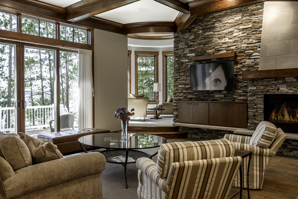 Livingroom / Lake Front Home / Grand Traverse County