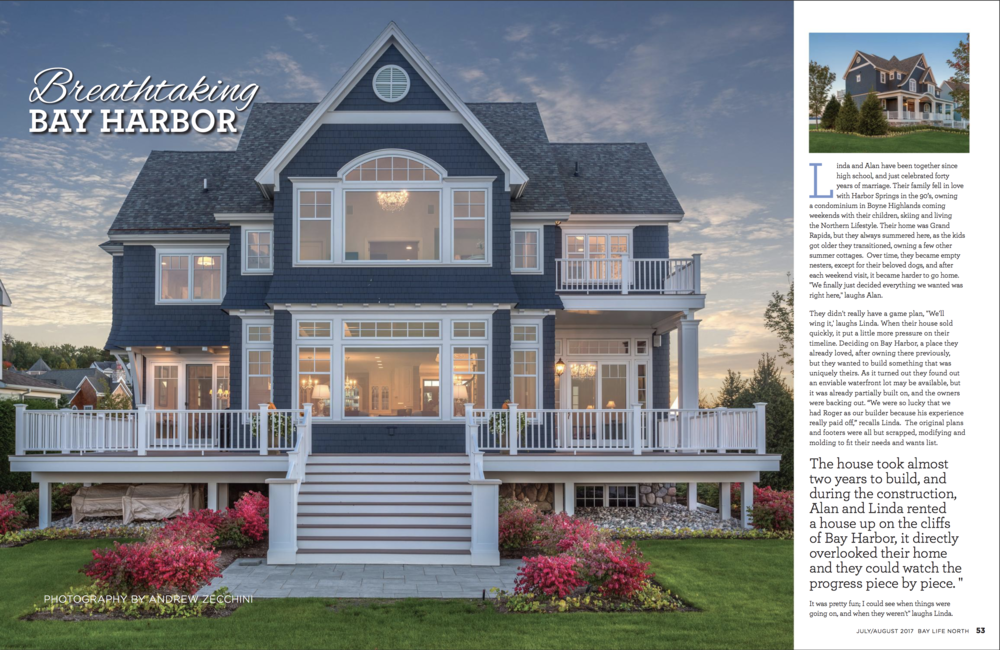 Bay Harbor Home - This article gives an in-depth look into the home we built on Bay Harbor. Learn more about our process and commitment to building high-quality homes in this July/August issue.