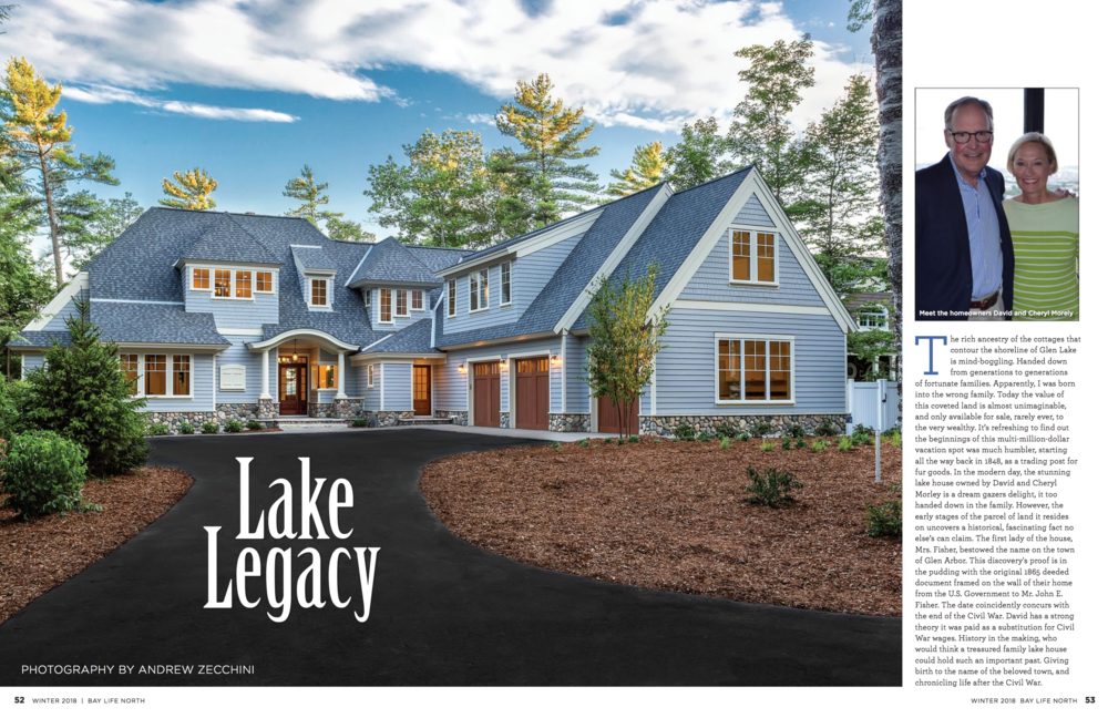 Glen Lake Home - Check us out in this Winter issue of the BayLife North Magazine! It explains more about the home we finished on Glen Lake and even gives an insight to the home owners opinion on their new
