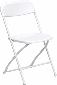 White Folding Chair - $1.25
