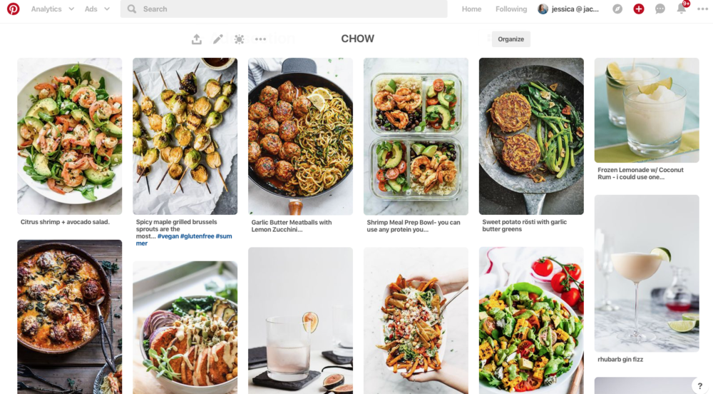 pinterest boards are a great storage space for those recipes you want to try out on your next menu.