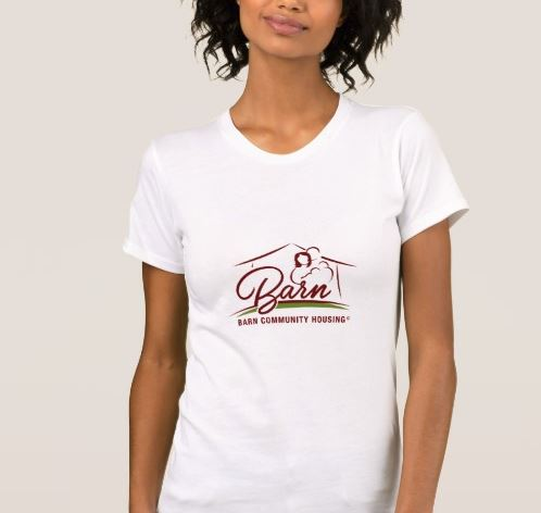 White BARN Woman's  T-Shirt $22.95 - Support BARN everywhere you go with this super soft White T-Shirt