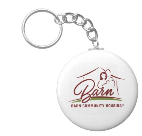 BARN Keychain $6.65 - A great everyday reminder of the community you help!