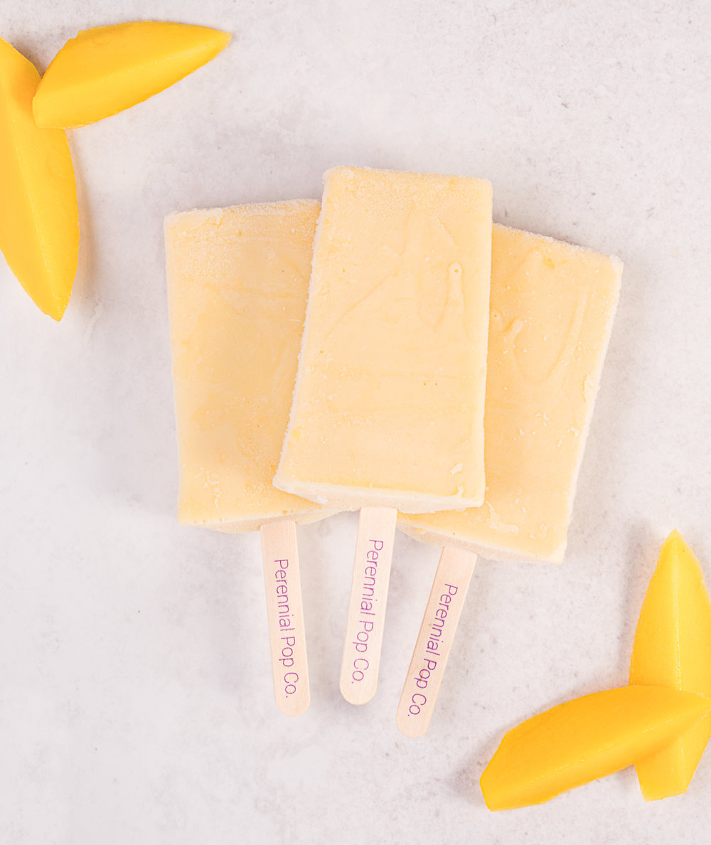 Our Promise to You - At Perennial Pop Co. we believe you should never have to wonder what's in your dessert. That's why our cream pops never contain:•artificial flavors, dyes, or sweeteners•high fructose corn syrup•harmful preservativesOur recipes are also free of trans-fats, cholesterol, animal ingredients, peanuts, almonds, cashews, soy, and gluten. Our choice of coconut, rice and hemp milks ensure that the rich creamy texture of our cream pops is never compromised.