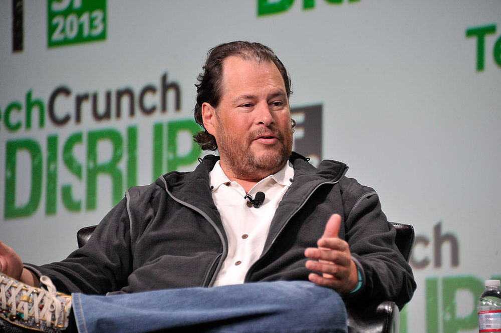 "Marc Benioff - He started salesforce.com in 1999, growing it into a billion dollar company and revolutionizing the cloud-based computing industry in the process. He started practicing meditation even before that, while serving as VP of Oracle.In a Utah tech conference last year, Benioff spoke on the importance of meditation to CEOs and business leaders. He advised the assembled entrepreneurs to ""clear your mind, make room for some new ideas, and get back to a beginner's mind.""photo from wikipedia, uploaded by Schreibvieh"