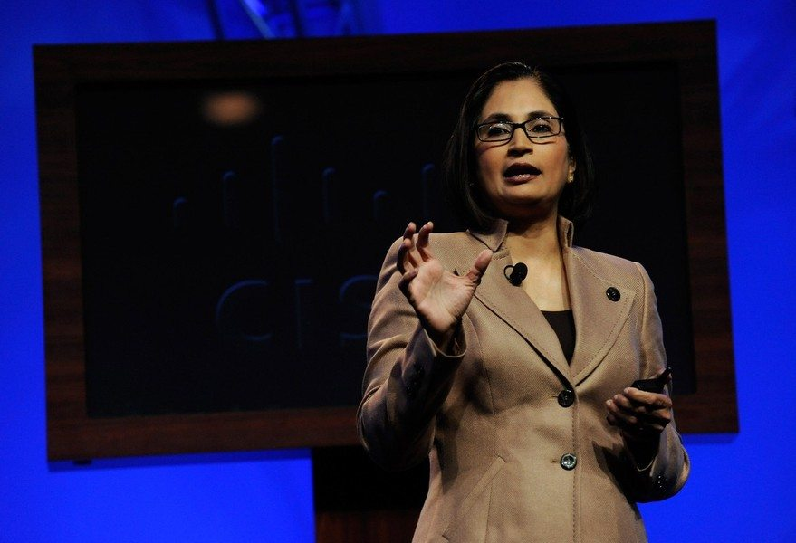 """Padmasree Warrior, Chief Technology and Strategy officer of Cisco Systems, and former CTO of Motorola - Forbes has named her one the 100 Most Powerful Women in the world. One of the keys to her success is her nightly meditation practice.Every evening she sits and empties her mind for 20 minutes, letting go of all the stress and activity of the day. She also unplugs every Saturday for a """"digital detox,"""" and enjoys painting, poetry, cooking and community involvement…We could all learn a lot from her about success and self-care."""