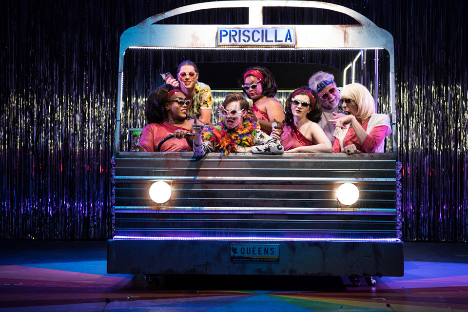 Production Photo from Priscilla, Queen of the Desert