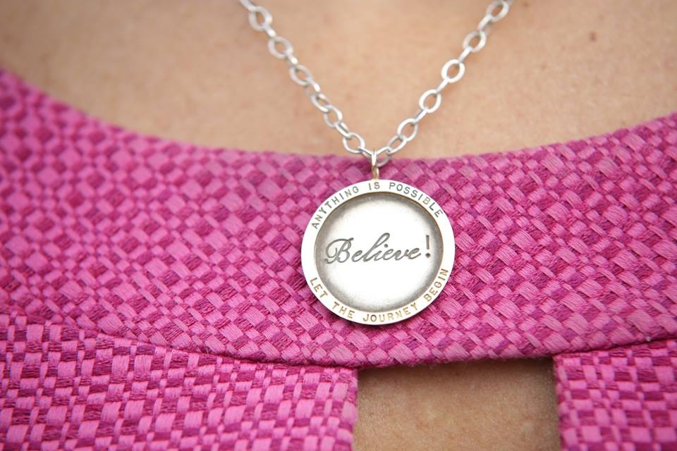 The BELIEVE necklace - Your gift with a donation of $100 or more to www.h3ministries.org