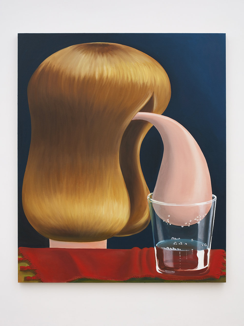 Louise Bonnet,  Bubbly Water , 2016, Oil on canvas | Image courtesy of Nino Mier Gallery