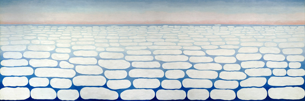 Georgia O'Keeffe,  Sky Above Clouds IV , 1965 Oil on canvas | Image courtesy of the Art Institute of Chicago